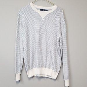 J. Crew men's striped 100% cotton sweater